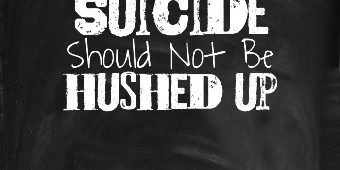 Suicide should not be hushed up!