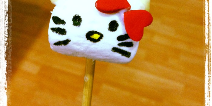 Super Simple Hello Kitty Marshmallow Pops