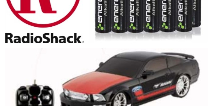 Auction Item 21: RadioShack RC Mustang & Batteries {Sold}