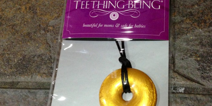 Auction Item 24: Teething Bling Metallic Gold Necklace {Sold}