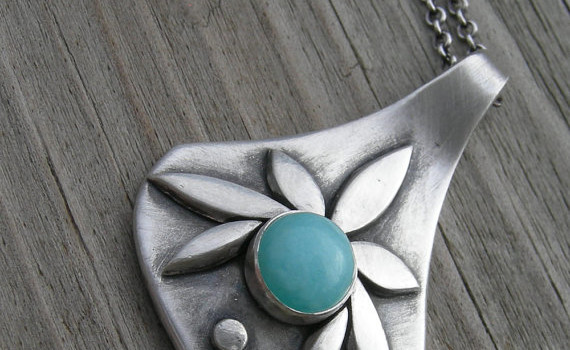 {CLOSED} Item 2: Sterling Precious Metal Clay Pendant
