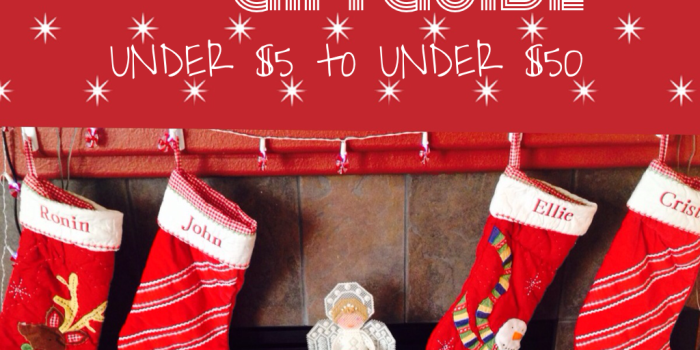 Stocking Stuffers {Under $5 to Under $50}
