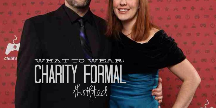 Thrifted: Charity Formal {Thrifting Tips}