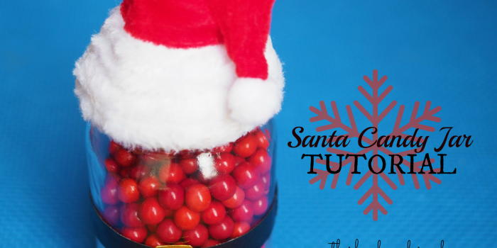 Santa Mason Jar Craft Tutorial