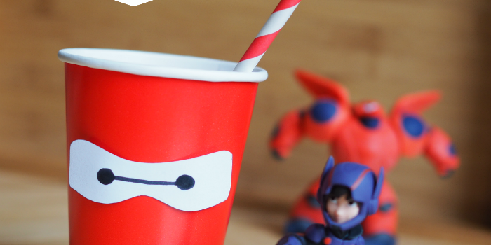 Big Hero 6 Baymax Party Cup Tutorial {with Printable}