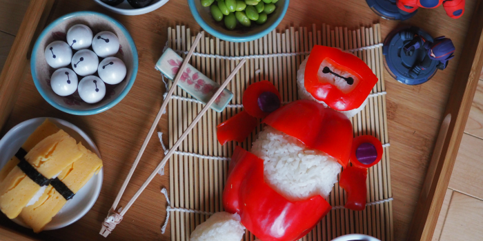 Inspired by Big Hero 6: Baymax Rice Ball and Party Ideas