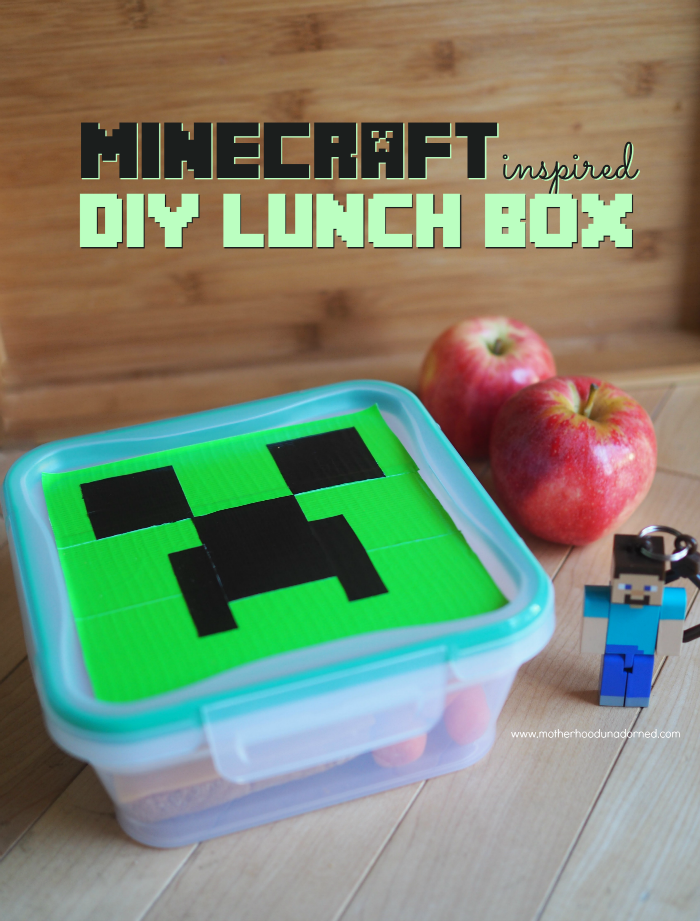 Minecraft Inspired Creeper DIY Duct Tape Lunch Box SnapwareBTS Ad