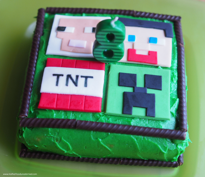Minecraft Party Ideas Cake Cupcakes Party Favors
