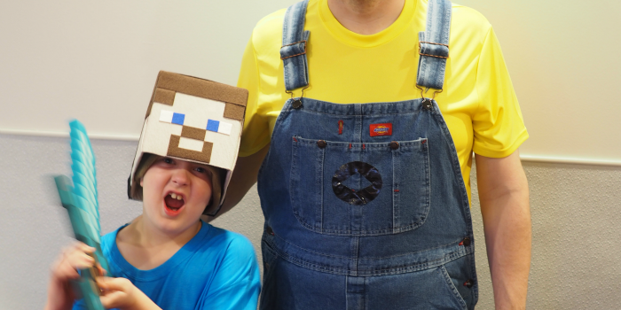 DIY Minecraft Steve Box Hat