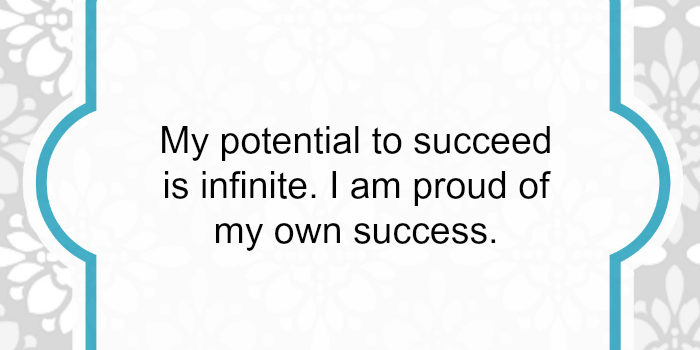 Affirmation: I am proud of my success