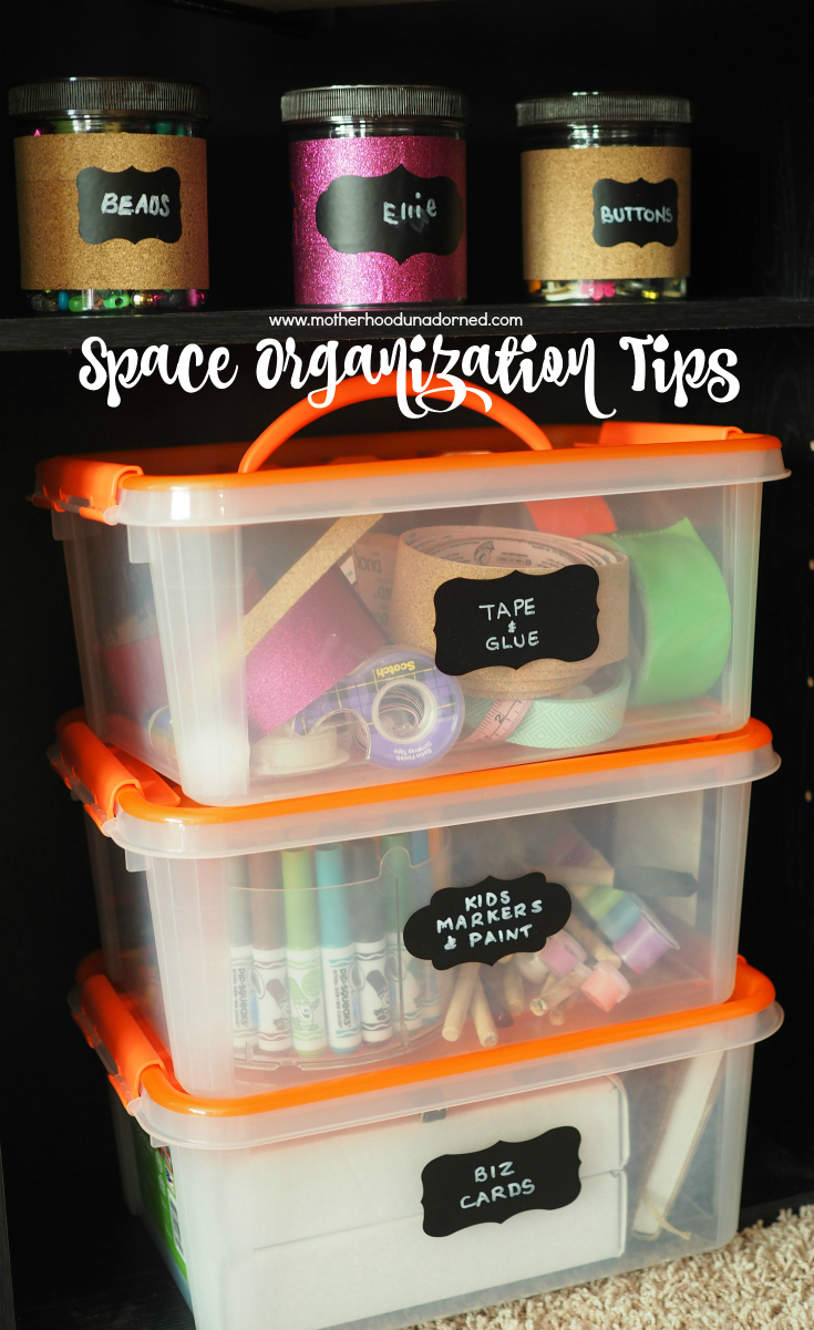 my space is tidy and organized {tips for small spaces}
