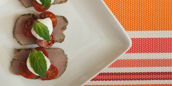 Romantic At-Home Date Night {Bruschetta Pork Tenderloin Recipe}
