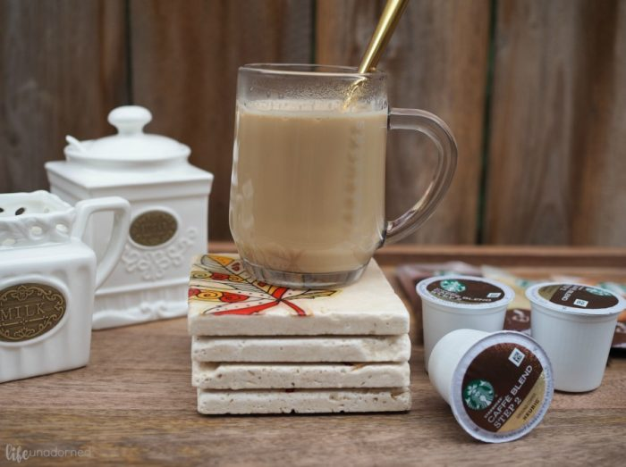 DIY-Rustic-Stone-Coasters-and-Starbucks®-Caffè-Latte-K-Cup®-pods