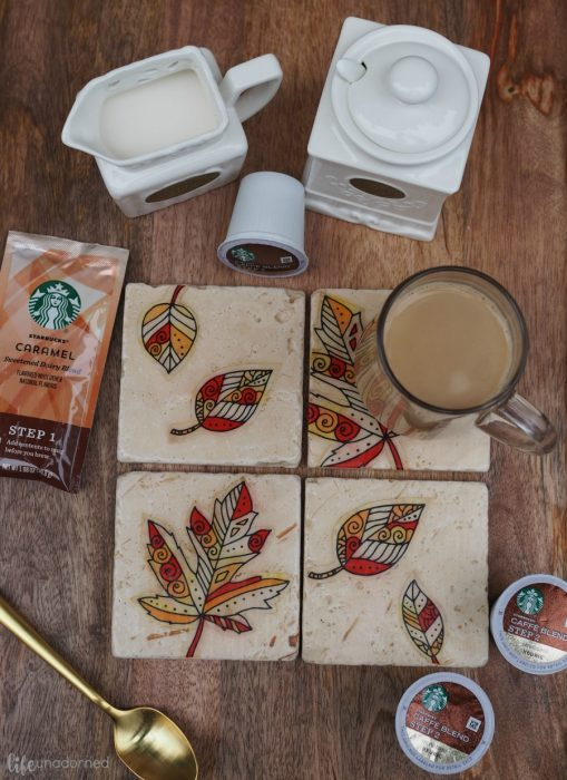 DIY-Rustic-Stone-Fall-Inspired-Coasters-and-Starbucks-Caffè-Latte-K-Cup-pods