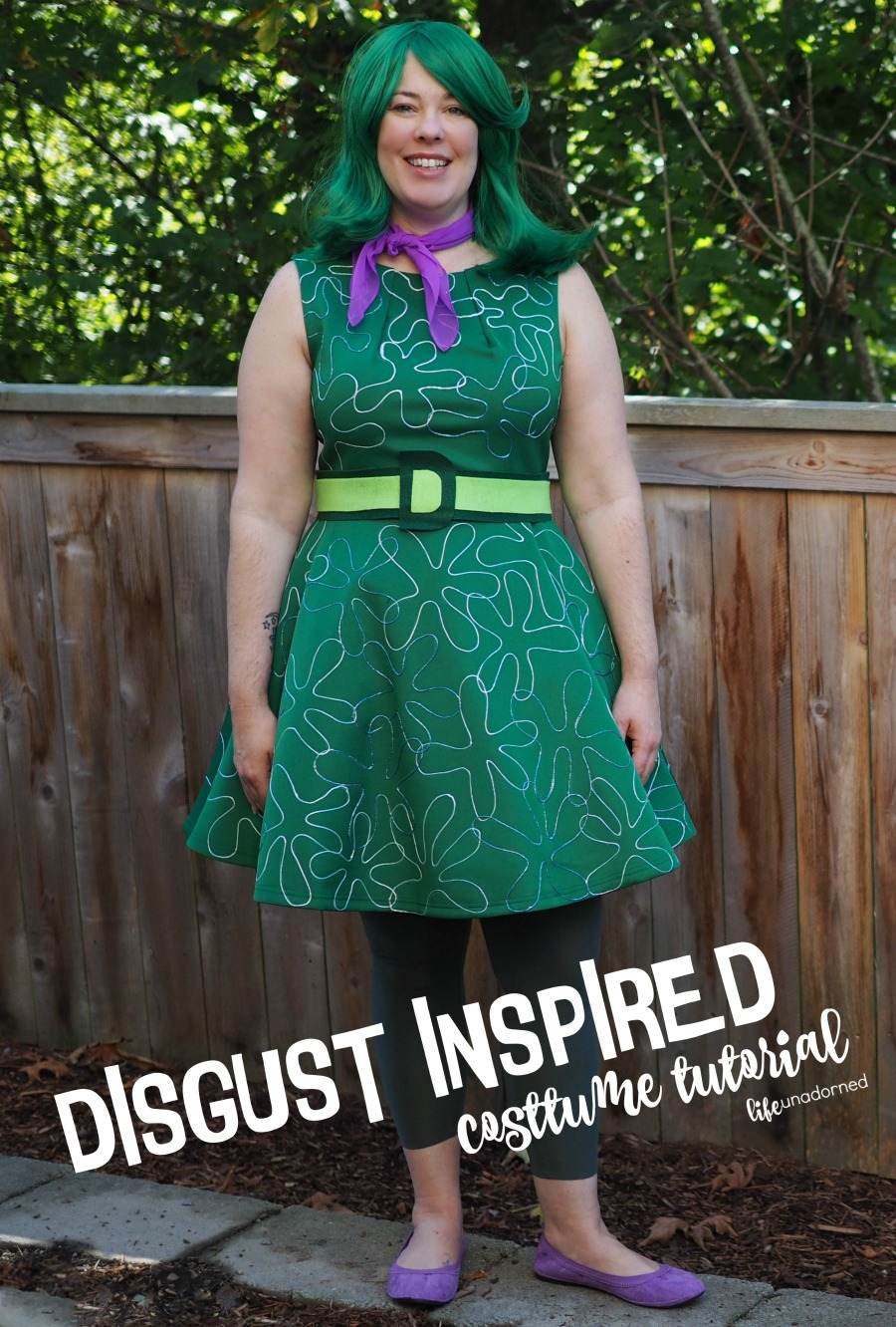 Inside Out Disgust Costume No Sew Tutorial