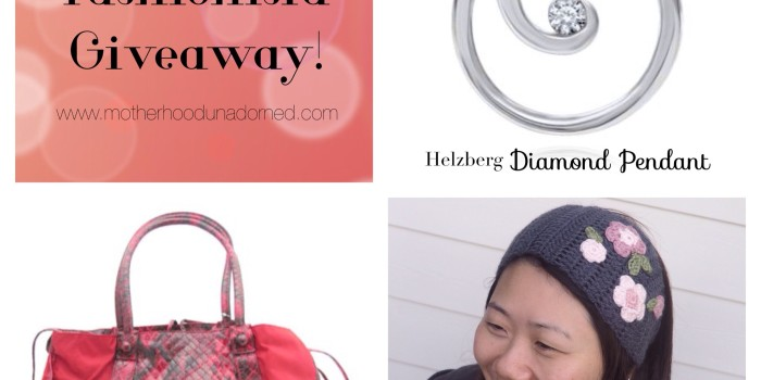 Fashionista Giveaway! Helzberg Diamond Pendant, FALCHI Tote, MinaDream Crochet Set (RV $239)