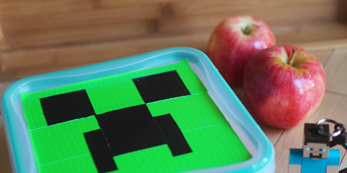 DIY Minecraft Creeper Lunch box tutorial