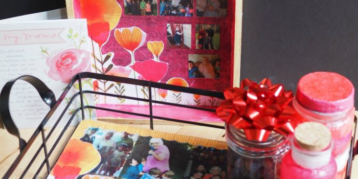 Decoupage photo memory gifts for mothers day