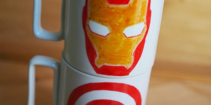 DIY #TeamCap and #TeamIronman Mugs Tutorial