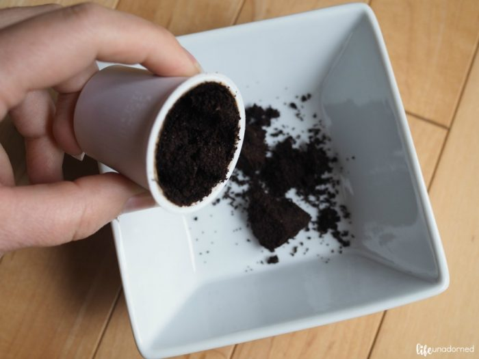 empty-Starbucks-k-cup-to-get-out-coffee-grounds-for-project