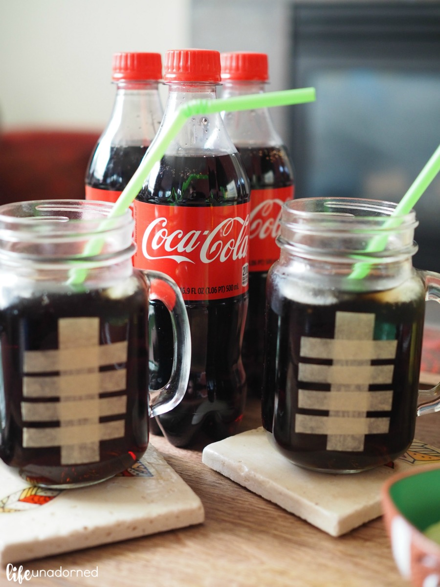 Coca-Cola-football-mason-jar-mugs