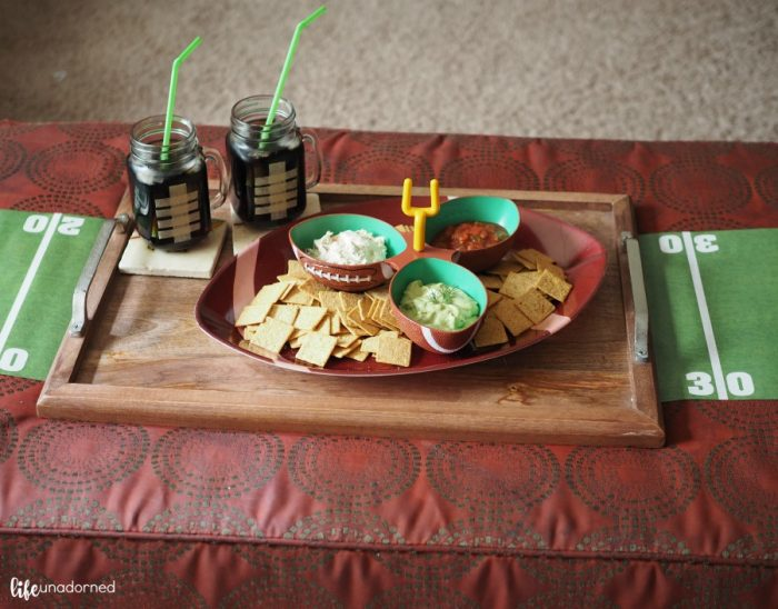 football-party-snack-tray-on-ottoman